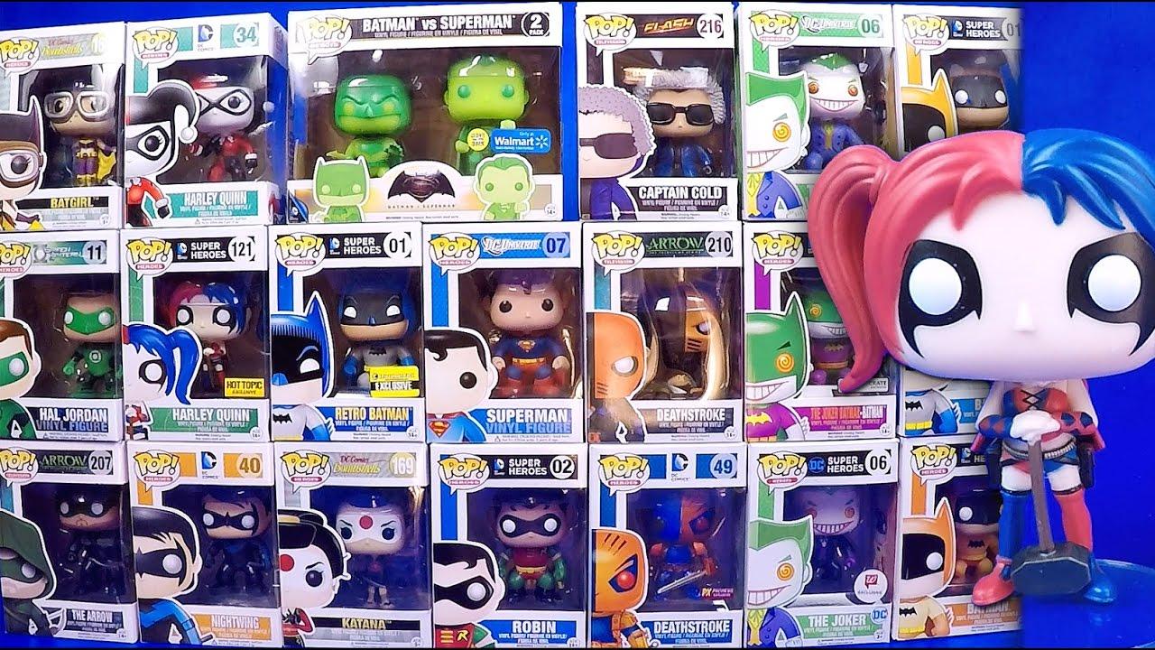 8cb0f23475d DC Comics 21 Funko Pop Figures Unboxing   Review Batman Harley Quinn Joker Pop  Vinyl Unboxing