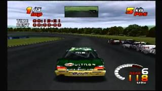 TOCA 2 Touring Car Challenge PS1: Test Track (Oval)
