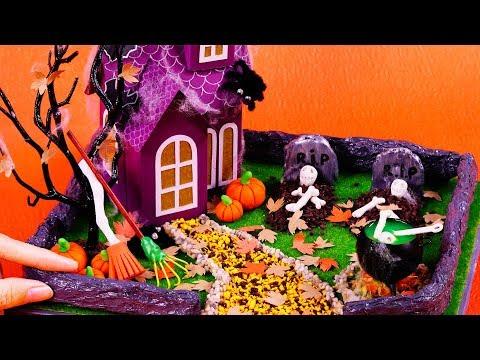 How To Make A Miniature Halloween Zen Garden – DIY Stress-Relieving Desk Decoration