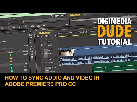 How To Sync Audio and Video In Adobe Premiere Pro CC