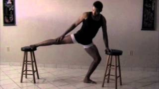 Basic Stretching Using Bar Stools
