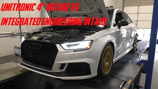 """Dyno testing the Unitronic 4"""" Intake System VS the Integrated Engineering Intake System - Audi RS3"""