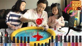 신기한 미술놀이! 마블링 아트 MARBLING ART for kids l kids homeschooling l kids art