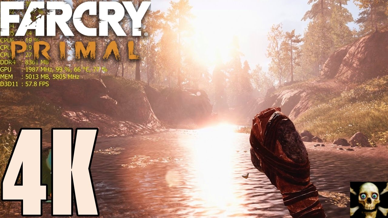 Far Cry Primal 4K UltraHD Gtx 1080 TI Fps Performance