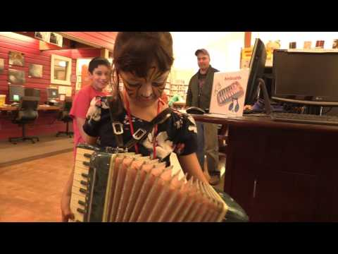 Lopez Island Library Musical Instrument Petting Zoo