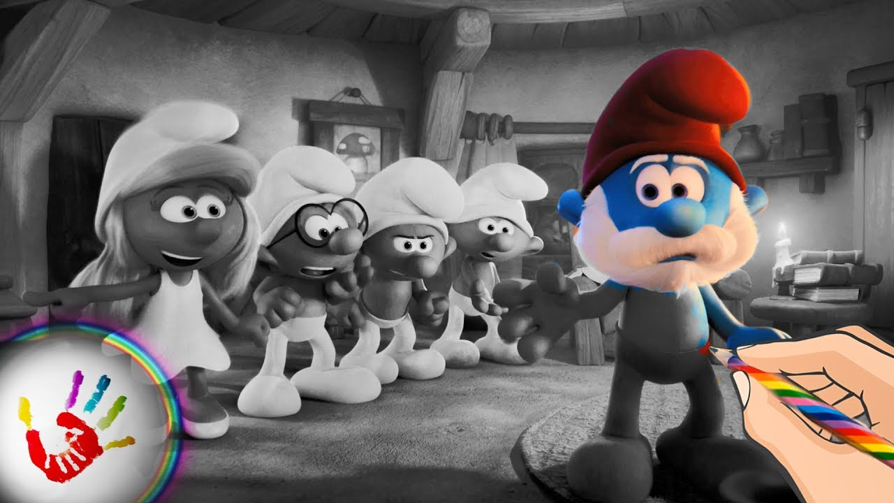 The Papa Smurf Punishes Smurfette Clumsy Smurf Hefty Smurf And Brainy Smurf Coloring Pages Youtube