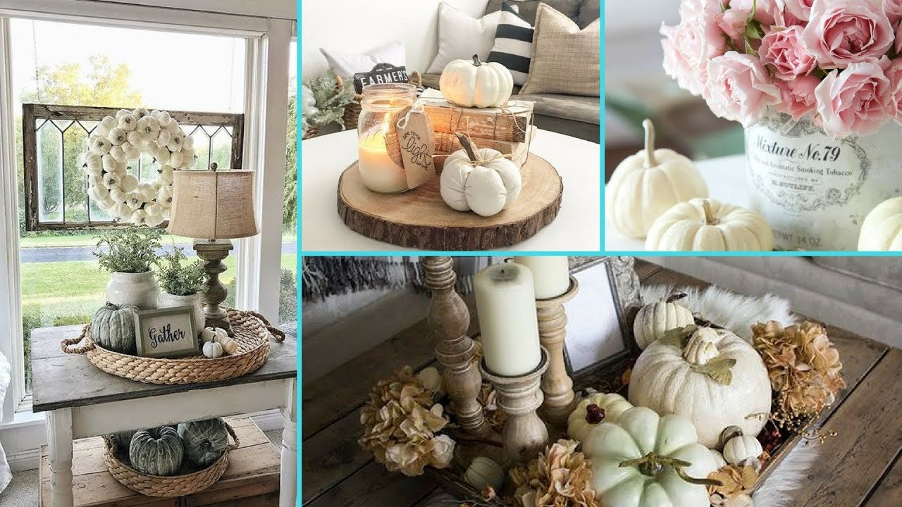DIY Shabby Chic Style Fall Coffee Table decor Ideas