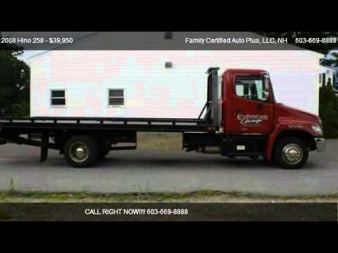 2008 hino 258 rollback tow truck for sale in manchester nh 03103 youtube. Black Bedroom Furniture Sets. Home Design Ideas