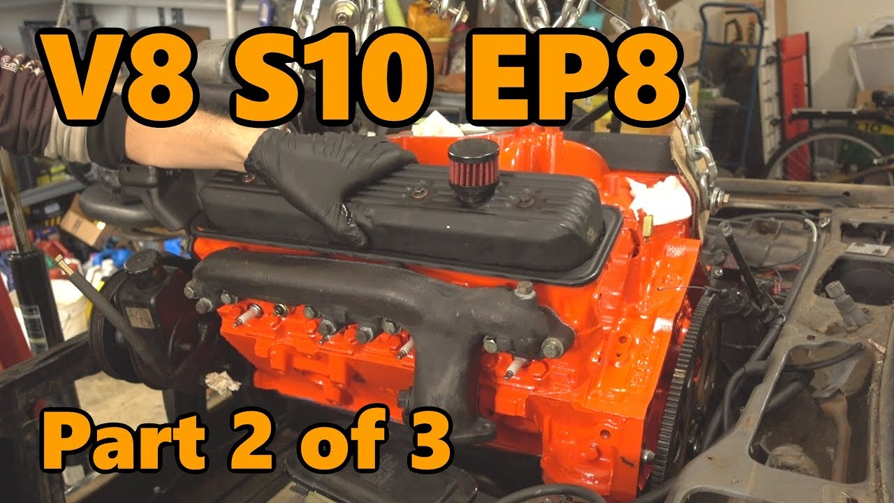 v8 s10 rebuilt engine install and hookup (ep 8 part 2 of 3)