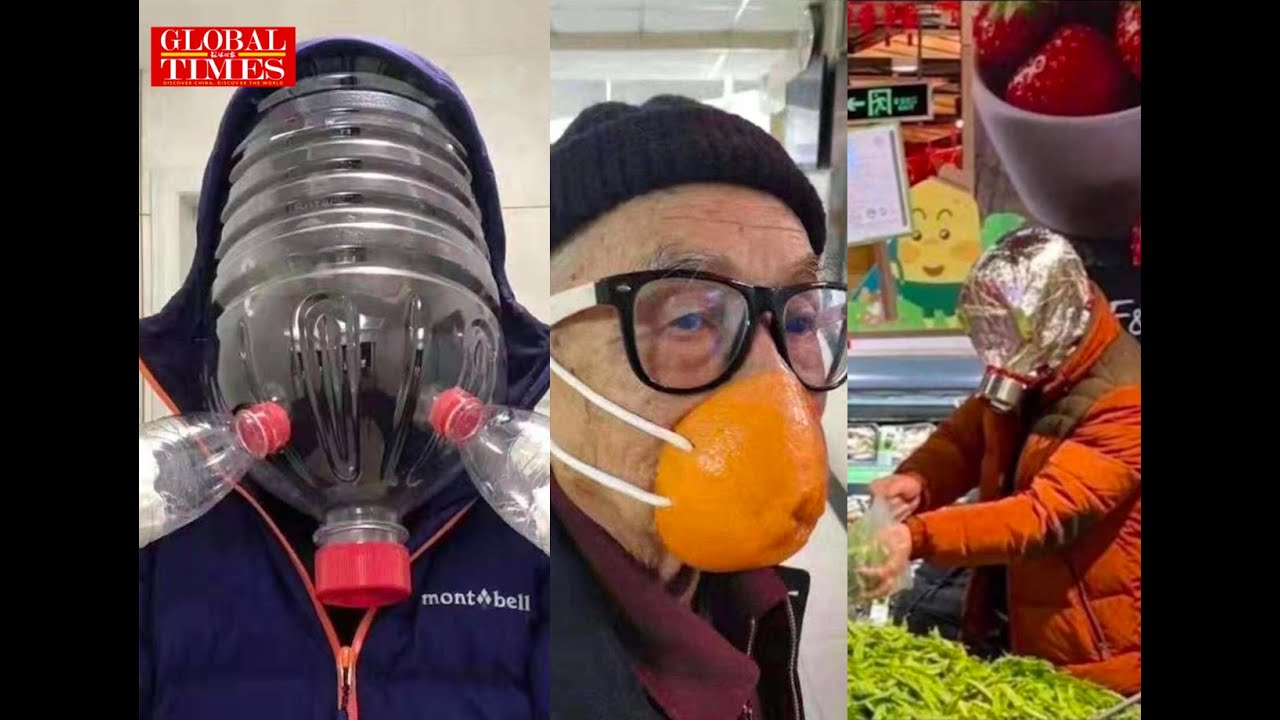 """The""""hard-core"""" homemade masks by Chinese people - YouTube"""