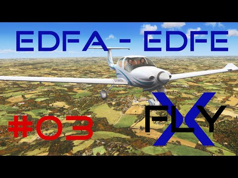 FlyX #03  Anspach/Taunus - Frankfurt Egelsbach (DA40) [HD]