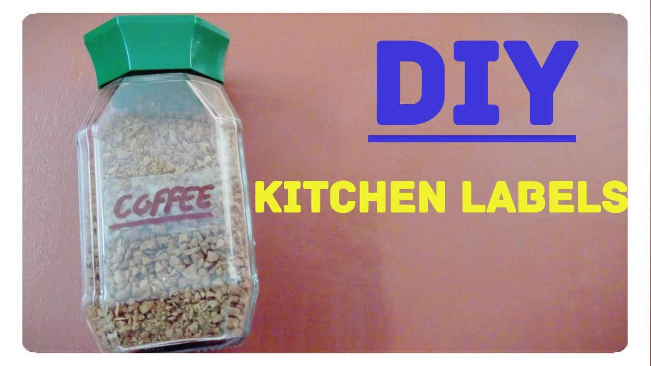 how to make homemade transparent pantry labels diy kitchen labels