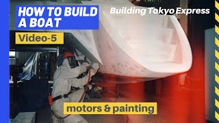 How to build a boat - Catamaran - part 5 - Final assy & painting