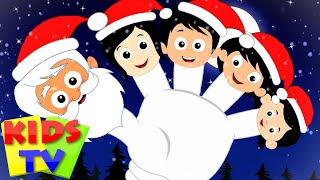 Santa Claus Finger Family Song   Christmas Carols & Nursery Rhymes for Babies - Kids Tv