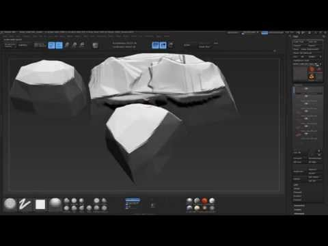 Sculpting stone wall.  Part 5.  Zbrush.