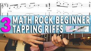 3 Math Rock / Midwest Emo Beginner Tapping Riffs