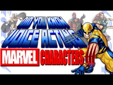 Marvel Characters PART 3 (X-Men) - Did You Know Voice Acting?