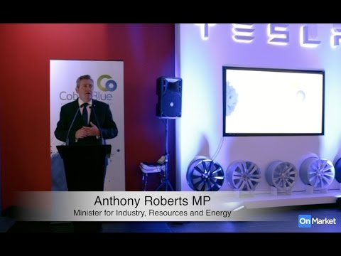 Anthony Roberts, MP: Cobalt Blue Holdings IPO launch at Tesla Showroom, 23 Nov 2016