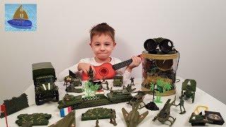 Игровой набор Солдатики Игрушечные сражения | История дружбы или Военные машинки для детей