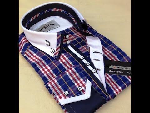 Мужская стильная рубашка Mario Mancini модель 1883-7 - YouTube eef8930c9ba