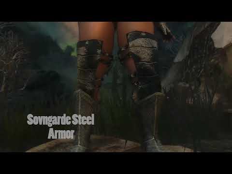 Skyrim HDT Armors - Sovngarde Steel Armor