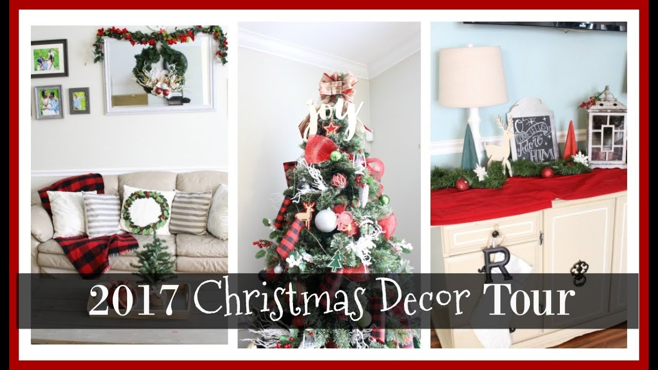 2017 christmas decor tour a buffalo plaid christmas - Plaid Christmas Decor