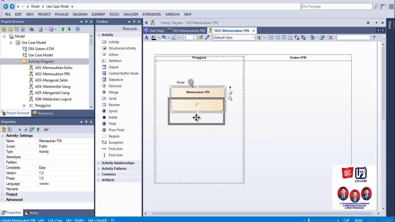 Tutorial membuat activity diagram menggunakan enterprise youtube tutorial membuat activity diagram menggunakan enterprise ccuart Gallery