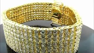 """9"""" 8 Rows Iced Out Hip Hop CZ Bracelet(BRCZ-0809GR) Thumbnail"""