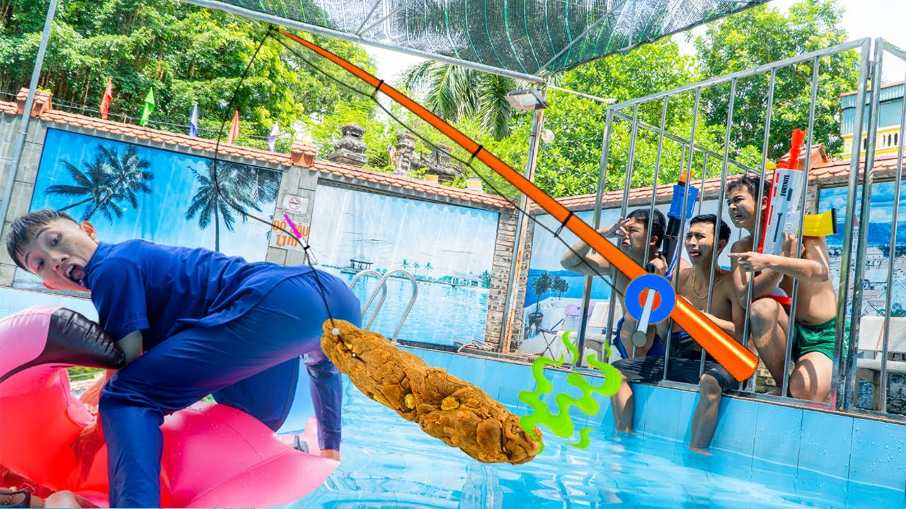 Gagal Mancing - Seal Warriors Nerf Guns Fight Criminal ESCAPE From UNDERWATER PRISON | Action Nerf