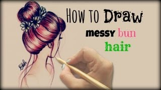 One of Debby Arts's most viewed videos: Drawing Tutorial ❤ How to draw and color  Messy Bun Hair