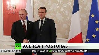 Putin y Macron se reúnen en Francia: ¿Qué figura en su agenda?