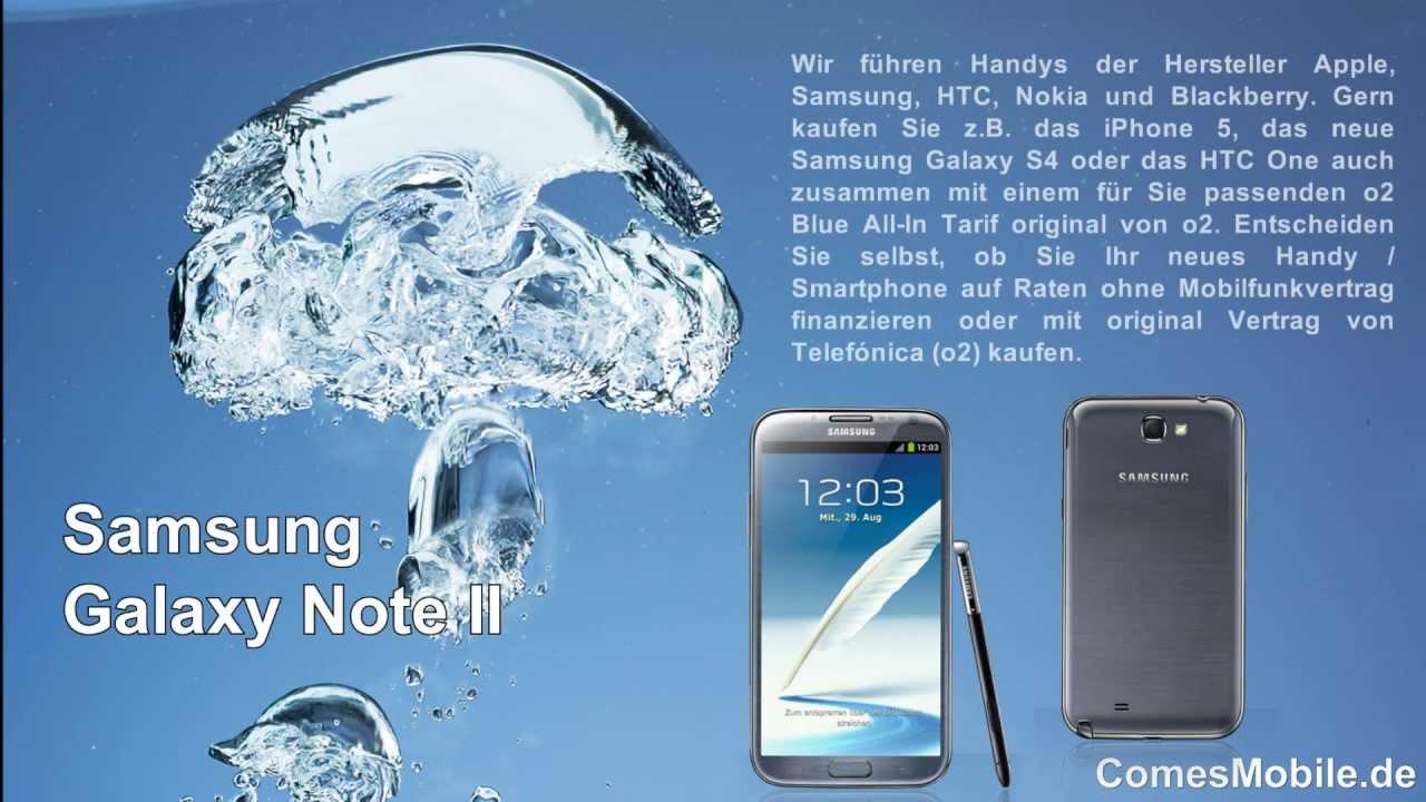 Galaxy Note 2 Ratenkauf Oder Mit Vertrag Comesmobilede Youtube