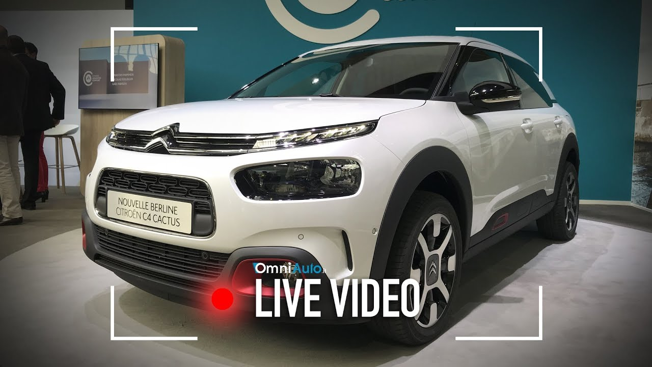 la citroen c4 cactus restyling vista dal vivo youtube. Black Bedroom Furniture Sets. Home Design Ideas