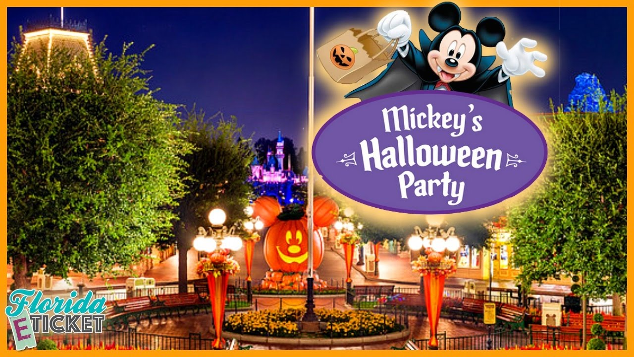 Halloween In Disney Florida.Florida E Tick Or Treat Mickey S Halloween Party At Disneyland Oct 8 2016