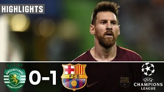 sporting Lisbon Vs Barcelona 0-1  All Goals & Extended Highlights - Resumen y Goles 27/09/2017