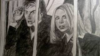 The Doctor and Rose speed drawing