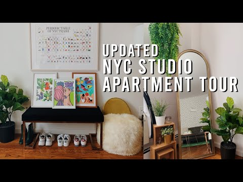 Updated NYC Studio Apartment Tour + DIY Decor Ideas | 2019