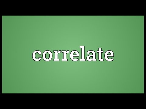 Correlate Meaning