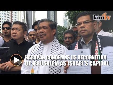 Harapan sends memorandum to US embassy, condemns Trump's Jerusalem move