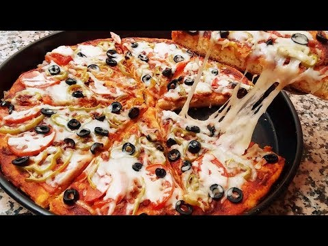 Recette Facile de Pizza Maison (SEMOULE) Cuisine Marocaine 200