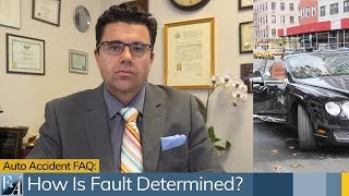 Car Accident FAQ: How Is Fault Determined in New York?  A NYC Injury Lawyer Answers.