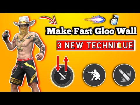 3 New Technique For Faster Gloo Wall Free Fire [Hindi]    Make Fast Gloo Wall New Technique FF