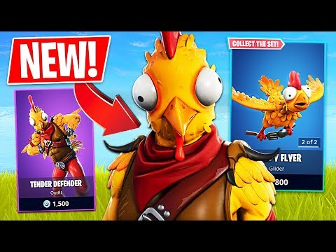 "Fortnite *NEW* Thanksgiving Chicken ""Tender Defender"" Skin! (Fortnite Live Gameplay) thumbnail"