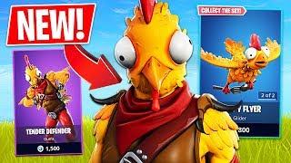 """Fortnite *NEW* Thanksgiving Chicken """"Tender Defender"""" Skin! (Fortnite Live Gameplay)"""