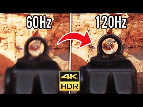 WORLDS FIRST 120FPS GAMEPLAY on XBOX SERIES X! (4K 60hz vs 120hz)