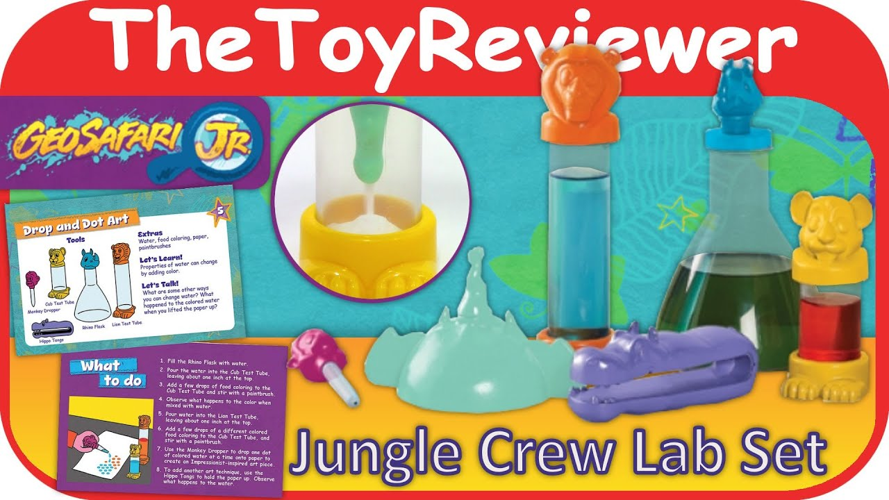 GeoSafari Jr. Jungle Crew Lab Set Unboxing Toy Review by ...
