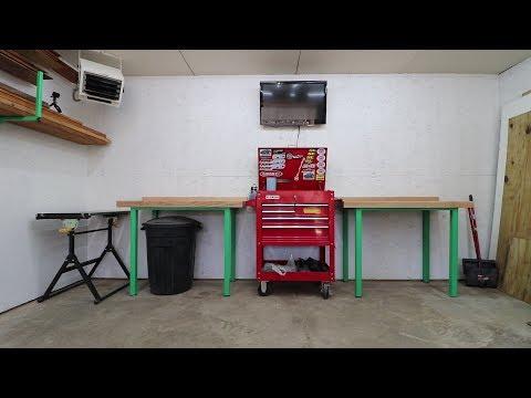 DIY Custom Workbench set with crud catcher - Garage Update