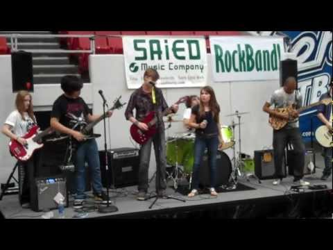 Saied Music School presents Rockband Academy's Awkward Silence performing at the Tulsa 66ers game!