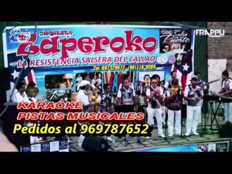 DIGO YO   ZAPEROKO LA RESISTENCIA SALSERA DEL CALLAO - KARAOKE  PISTA MUSICAL  - SONIDO HQ
