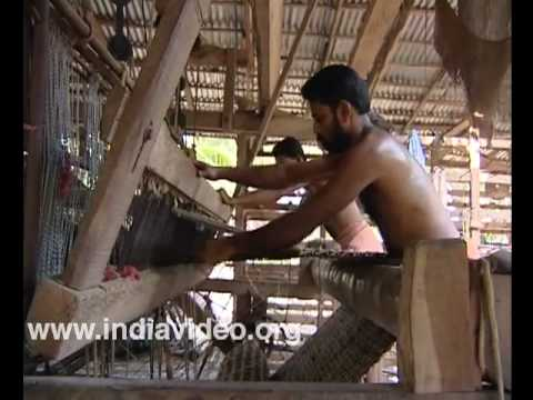 Weaving coir mats at Mohamma